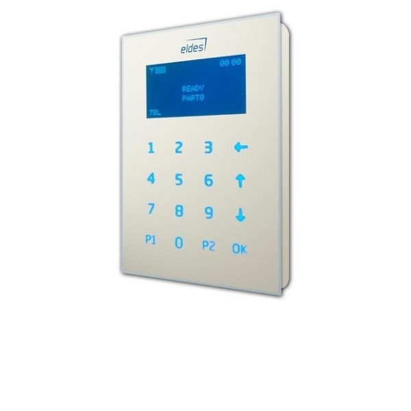 B-EKB2-White, Wired LCD Keypad, ELDES